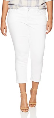 SLINK Jeans Women's Plus Size Charlie White Crop 18