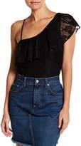 Socialite One Shoulder Lace Bodysuit