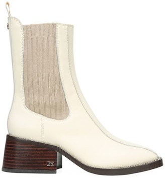 Sam Edelman Dasha Square-Toe Leather Chelsea Boots