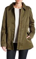 Joe Fresh Faux Fur Trimmed Military Anorak