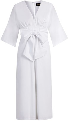 New York & Co. Bow-Front Jumpsuit - Gabrielle Union Collection