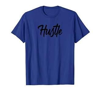 Mens HUSTLE - Gym Fitness Workout Motivational Design Tee F026 T-Shirt