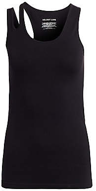 Helmut Lang Women's Slashed Shoulder Tank Top