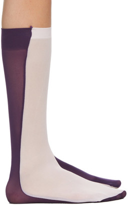 Paula Canovas Del Vas Pink and Purple Bi-Colored Socks