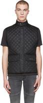 Belstaff Black Quilted Wasicoat Vest