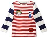 Stella McCartney circus red pow badges striped t-shirt