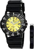 CampCo Smith & Wesson Men's SWW-450-YELLOW Sport Tritium H3 Black Rubber and Nylon Straps Watch