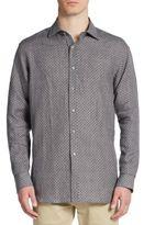 Saks Fifth Avenue Regular-Fit Patterned Linen Sportshirt
