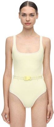 Off-White Off White Belted One Piece Swimsuit