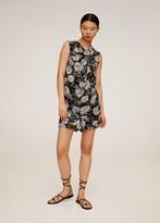 MANGO Floral-print flowy blouse