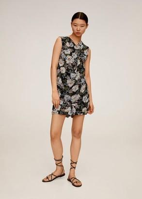 MANGO Floral-print flowy blouse black - 4 - Women