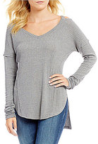 William Rast Ives Clavical Cut-Out Long-Sleeve Thermal Top