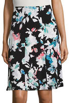 Ellen Tracy Neo-Romanticism Seamed Knit Skirt