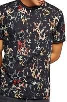 Topman Floral Leopard Print T-Shirt