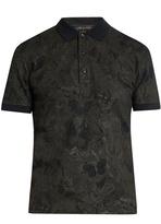 Valentino Butterfly-print cotton-piqué polo shirt