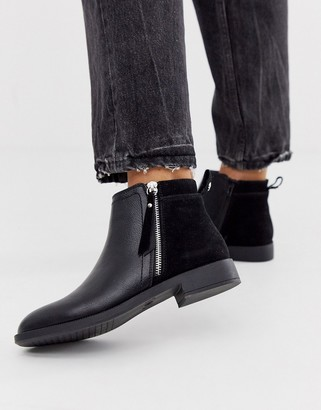 Miss KG flat ankle boots with side zip