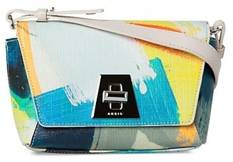 Akris Medium Anouk Day Printed Fabric Crossbody Bag