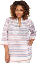 MICHAEL Michael Kors Size Deep Sea Stripe Tunic