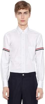Thom Browne Cotton Poplin Shirt W/ Striped Arm Bands