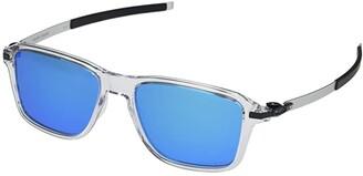 Oakley 54 mm Wheel House (Polished Clear Frame Prizm Sapphire Lens) Fashion Sunglasses
