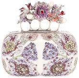 Alexander McQueen Flower Embroidered Knuckles Box Clutch