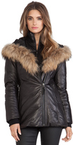 Mackage Ingrid Jacket with Natural Asiatic Raccoon Fur