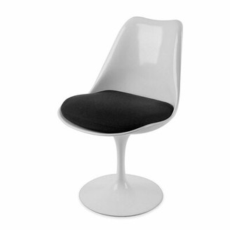 Orren Ellis Jacques Mid-Century Dining Chair Color: White/Black