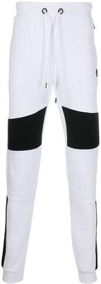 Philipp Plein Ribbed Panel Cotton Track Pants