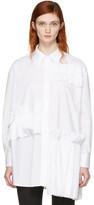 McQ White Ruffle Tunic Shirt