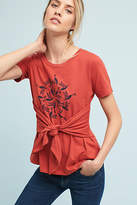 Anthropologie Graphic Tie-Waist Tee