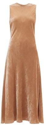 Sies Marjan Viv Flared Velvet-corduroy Dress - Beige