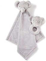 Edgehill Collection Elephant Buddy Blanket And Rattle Set
