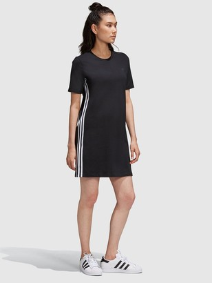 adidas adicolour3D Trefoil Tee Dress - Black White