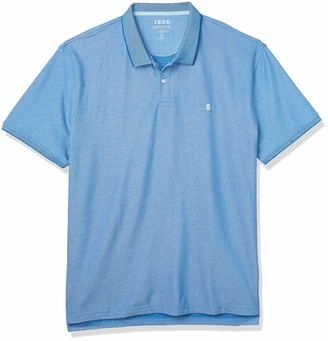 Izod Men's Slim Fit Advantage Performance Short Sleeve Solid Polo