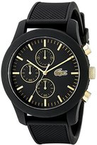 Lacoste Men's 2010826 12.12 Analog Display Quartz Black Watch