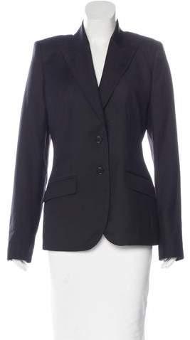 Alexander McQueen Wool Structured Blazer