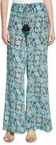 Figue Estela Paisley-Print Silk Pants, Multi