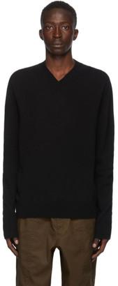 Jil Sander Black Cashmere V-neck Sweater