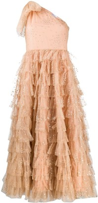 RED Valentino Glitter Heart tiered tulle dress