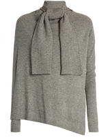 Edun Front-overlay long-sleeved wool sweater