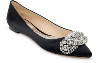 Badgley Mischka Collection Octavia Crystal Embellished Skimmer Flat