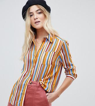Miss Selfridge stripe shirt in multi