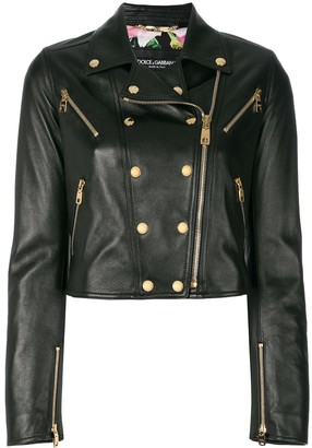 Dolce & Gabbana studded leather biker jacket