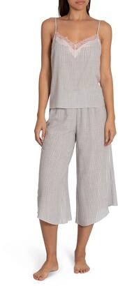 Midnight Bakery Reese Stripe Camisole Crop Pajamas