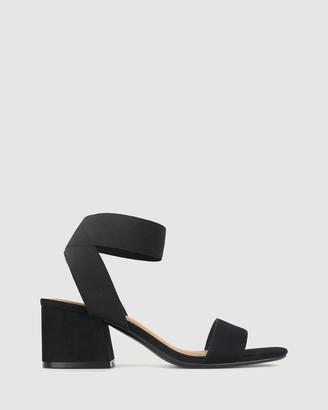 betts Cecile Flare Block Heel Sandals