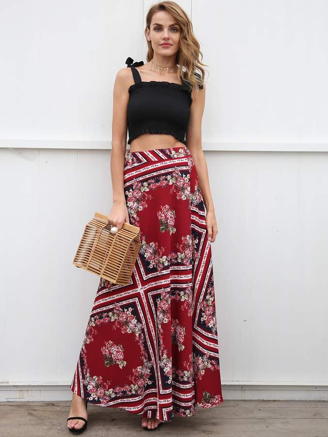 4091afa2df Thigh Split Maxi Skirt - ShopStyle