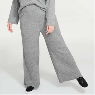 Joe Fresh Women+ Rib Jersey Pants, Light Grey Mix (Size 3X)