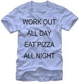 Fifth Sun Men's Tee Shirts LT - Heather Light Blue 'Pizza All Night' Tee - Men