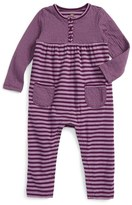 Tea Collection Infant Girl's Ponpon Stripe Henley Romper