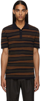 Ermenegildo Zegna Multicolor Striped Logo Polo